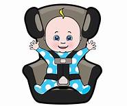 child safety seat clipart