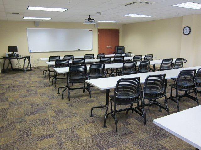 Lower Level Room 18 with Teacher Station and Projector